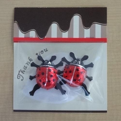 画像1: 「しあわせを運ぶ てんとう虫チョコ」(2粒入り)× 6パック