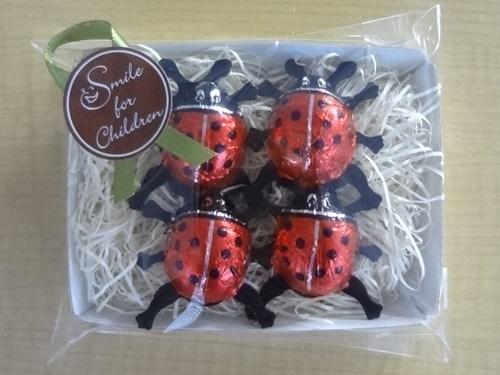 画像1: 「しあわせを運ぶ てんとう虫チョコ」(4粒入り)× 4パック